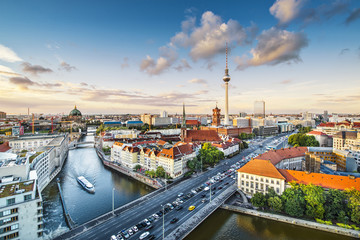 Wall Murals Berlin Berlin, Germany Afternoon Cityscape