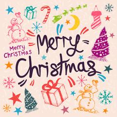 Merry Christmas Greeting Vector