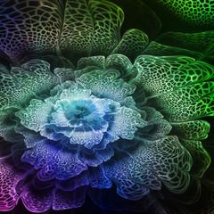Wall Mural - Green futuristic flower