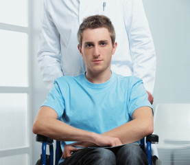 patient on a wheelchair