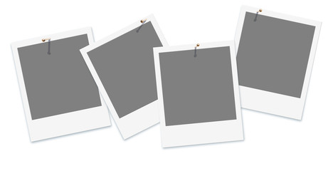 Sofortbild, Platzhalter, Vorlage, Template, Freisteller