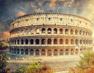 Wall Mural - Colosseum in Rome, Italy