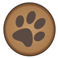 Brown Paw Badge