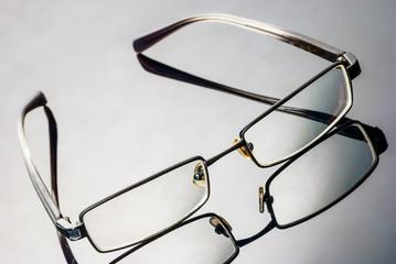 Modern Glassess on a reflective surface