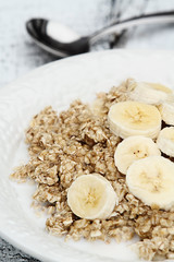 Oatmeal and Fresh Bananas