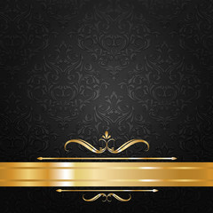 black and gold label background vector
