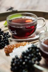 Fototapete - Holunder-Tee mit Kandiszucker