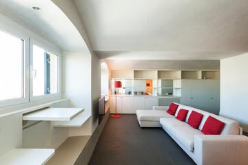 Interior beautiful apartment, modern furniture