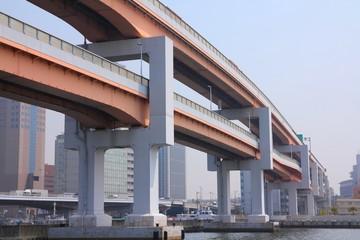 Elevated expressways in Kobe, Japan