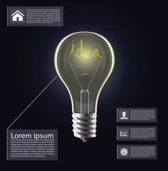 Idea light bulb infogrphics