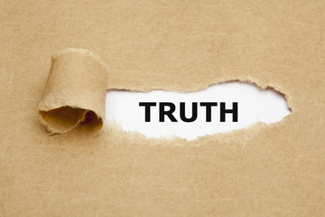 Word Truth Torn Paper Concept