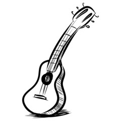 Acoustic guitar fast sketch
