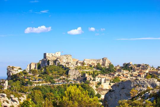 Les Baux de Provence village and castle. France, Europe.