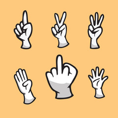 Hand show finger count icon