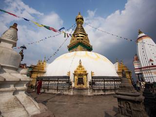 Swayambhunath Stupa, also known as Monkey Temple in Kathmandu