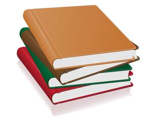 books stack vector illustration