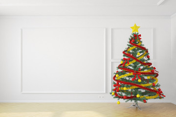 Christmastree in white room