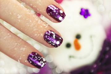 Ногти на Рождество.