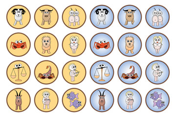 Zodiac web buttons