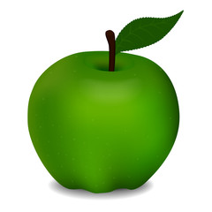 Vector illustration of delicious green apple