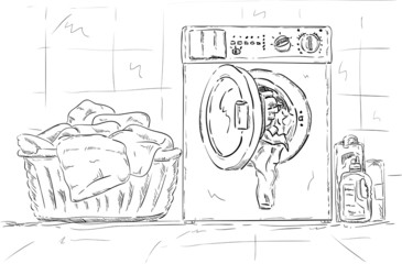washing machine, clothes