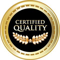 Certified Quality Black Vintage Label