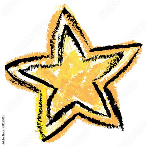 gelb schwarzer stern mit wachsmalkreide gezeichnet vektor stockfotos und lizenzfreie. Black Bedroom Furniture Sets. Home Design Ideas
