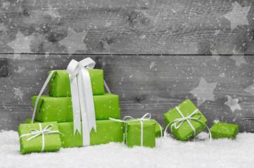 Grüne Geschenke für Weihnachten - Gutschein zum Fest