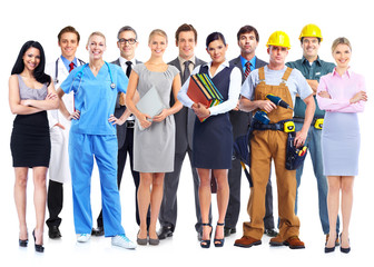 Group of professional workers.