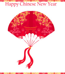 Decorative Chinese landscape - Happy Chinese New Year Card Desig