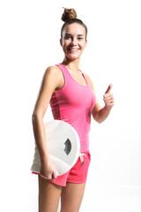 kobieta zadowolona ze swojej  wagi
