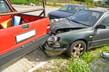 Fotobehang Snelle auto s car crash