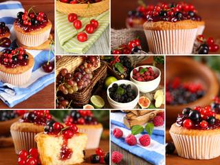 Berry cupcakes close up