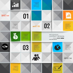 Modern business design template, infographic, website