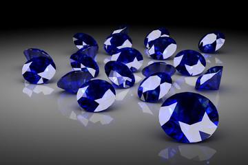 blue sapphire (high resolution 3D image)