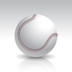Vector Illustration of Isolated Baseball Ball