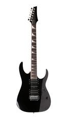 Full size black electric guitar