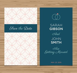 wedding card invitation, pattern vector design