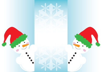 snowmen banner, winter banner