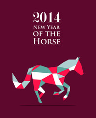 Canvas Prints Geometric animals Chinese new year of the Horse illustration vector file.