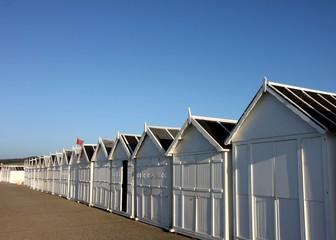 cabines de plage,normandie,quiberville sur mer