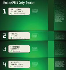 Modern green Design Layout