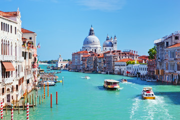 Foto op Plexiglas Venetie Venice, Italy. Grand Canal and Basilica Santa Maria della Salute