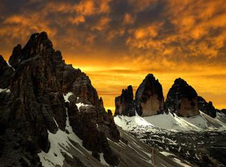 Tre cime di Lavaredo with Paternkofel, Dolomite Alps,Italy