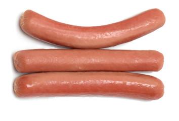 three sausage on a white background