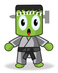 Cute Frankenstein Taegwondo