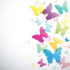 Vector Abstract butterflies background