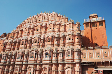 Hawa Mahal, or Palace of Breeze in Jaipur,Rajasthan,India,unesco