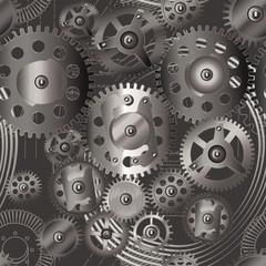gears seamless pattern 2