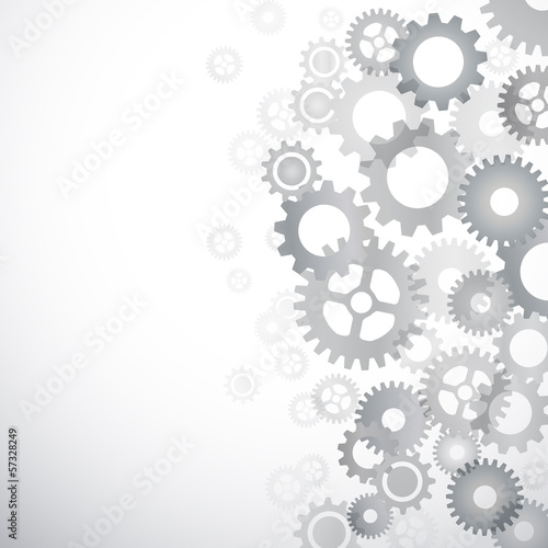 Wall mural Vector abstract gears background
